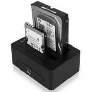 Външна докинг станция за HDD Ewent USB 3.1 Gen1 за 3.5/2.5 HDD/SSD, Черна, EWENT-HDD-DUAL