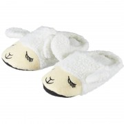 Geen Cadeau kinderslofjes/pantoffels lama/alpaca wit met anti-slip zool voor kinderen