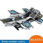 Generic SY911 Super Heroes Series The Shield Helicarrier Model Building Blocks Set Compatible with 76042 Classic Toys for Children