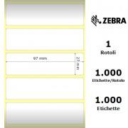 Etichette Zebra - Etichette UHF, formato 97 x 27