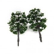 ELECTROPRIME 20Pcs Tree Model Train RR Park Street Winter Snow Scenery Layout HO OO 1:100