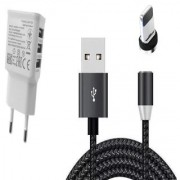 quick charger 3 usb port with 360 degree magnetic charging cable for lighting smart phone