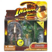 INDIANA JONES & TEMPLE TRAP Raiders of the Lost Ark 2008 Deluxe Action Figure Set
