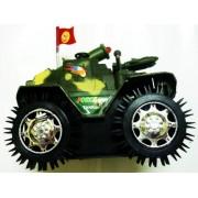 Tukknu Big Tumbling Tank Moving Red Flashing Top Light Kids Children Toys