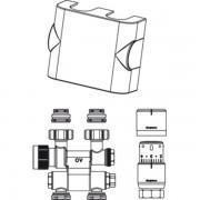 Oventrop Multiblock Aansluitset TF / UNI SH 1/2 draaibaar Kvs = 075 m3/h chroom 1184235