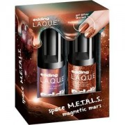 edding Make-up Nails Magnetic M.A.R.S. Set Nail Lacquer Magnetic Mars 8 ml + Glitter Top Coat Supreme Stardust 8 ml 1 Stk.
