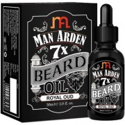 Man Arden 7X Beard Oil 30ml (Royal Oud) - 7 Premium Oils Blend For Beard Growth Nourishment