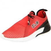 Columbus Men's Red Lace-up Sports Shoes