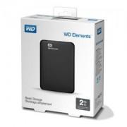 Външен диск HDD 2TB USB 3.0 Elements Black/WDBU6Y0020BBK
