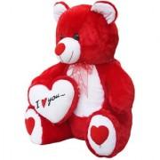 NAGAR INTERNATIONAL RED TEDDY WITH HEART 60 CM RED