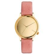 Dámské hodinky zlaté s růžovým páskem Komono Estelle Mirror Gold Blush