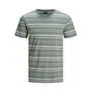 JACK & JONES Randig Rundringad T-shirt Man Grön