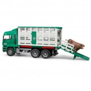Bruder Cattle Lorry with 1 Cow MAN 1:16 02749