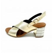 ESTRO Made in Italy Estro Sandalo Donna Con Tacco Gioiello - Laminato Oro Made In Italy - M-962-20