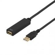 Deltaco Aktiv USB-förlängningskabel ( 3 meter )