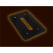 PTA-007 zseton maszk - rake nyilás /fekete/