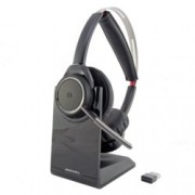 Слушалки Plantronics Voyager FOCUS UC, безжични, Bluetooth, USB, микрофон, черни