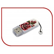 USB Flash Drive 8Gb - Verbatim Mini Tattoo Edition USB 2.0 Rose 49881