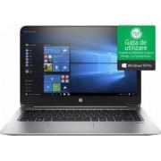 Laptop HP EliteBook Folio 1040 G3 Intel Core Skylake i7-6500 512GB 8GB Win10 Pro FullHD FPR Argintiu
