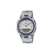 Relógio Casio Standard Anadigi World Time Aw-80d-7a2vdf Branco