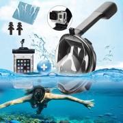 Titan Masca Full Face Snorkeling cu suport GoPro Marime L/XL Cadou Dopuri urechi si Husa Telefon cod 2433