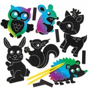 Woodland Animal Scratch Art Magnets (Pack of 10)