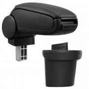 PremiumXL - [pro.tec] Naslon za ruke – specifičan za Nissan Juke - naslon za ruke za auto - sa pretincem - umjetna koža - crno