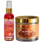 PINK ROOT ALMOND SCRUB 100Gm - PR STRAWBERRY FACE WASH