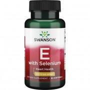 Swanson Vitamín E 400 iu i Selén 50 mcg 90 kapslí