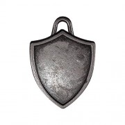 Tim Holtz Idea-ology Shield Charms, Pack of 5, Antique Nickel Finish, TH93212