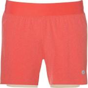 Asics - 2-n-1 5.5in short - Dames - Korte Broeken - Oranje - XL
