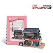 W3101h Cubicfun Cubic FUN 3d Puzzle Model Japanese Flavor Confectionery Shop