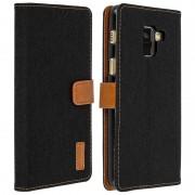 Avizar Funda Libro Jeans Negra para Samsung Galaxy A8
