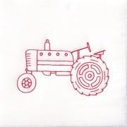 Jack Dempsey 733 290 Stamped White Quilt Blocks 9 X9 12/Pkg Old Tractor