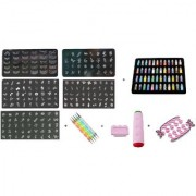 Royalkart Master Nail Art Kit With 5 Image Plates Double-sided Stamper And Scraper 48pcs Nail Glitter Bottles 5pcs Doub