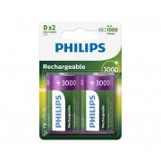 Philips R20B2A300/10 - 2 buc Baterie reincarcabila D MULTILIFE NiMH/1,2V/3000 mAh