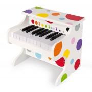 JANOD Drewniane, Elektroniczne pianino Confetti - pierwszy instrument dla dziecka / maluszka,