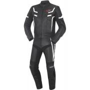 Bogotto ST-Evo De dos piezas traje de cuero moto Negro Blanco 50