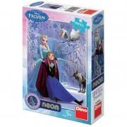 Puzzle Neon Frozen 100 piese Dino Toys