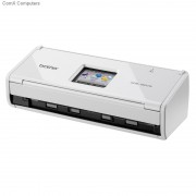 Brother-Small compact desktop scanner; Double sided scanning in a single pass