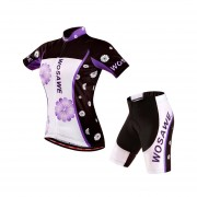 Uniforme Ciclismo Jersey + 3D Gel Padded Short Bici Ruta Bicicleta Mujer Reflectante Noche