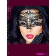 Maschera in metallo con strass 3807