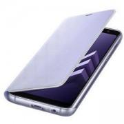 Калъф за смартфон Samsung Galaxy A8 (2018), Neon Flip Cover, Orchid Gray, EF-FA530PVEGWW