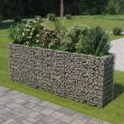 vidaXL horganyzott acél gabion virágtartó 270 x 50 x 100 cm