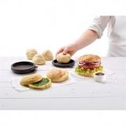 4 Moules pain à burgers maison en silicone Lekue