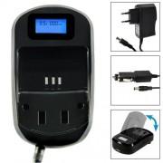 Chargeur Afficheur Digital LCD Secteur Voiture Batterie Fuji NP-60 Ricoh DB-40 Kodak Klic-5000