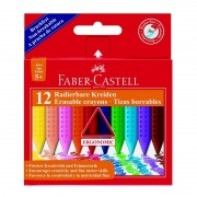 Creioane colorate, cerate, 12 culori/set, Standard, FABER CASTELL