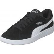 Puma Puma Smash V2 Puma Black-puma White-silver, Skor, Sneakers och Träningsskor, Låga sneakers, Svart, Unisex, 37