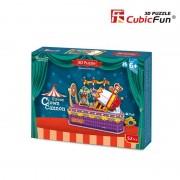 Cubicfun Tunul clovnului Colectia de puzzle 3D Lumea Circului 52 de piese