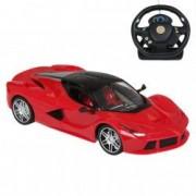 Masinuta rosie Lamborghini Luxury telecomanda control tip volan